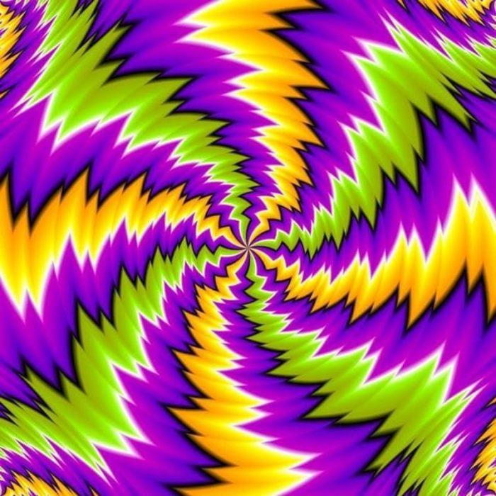 ilusión óptica de colores