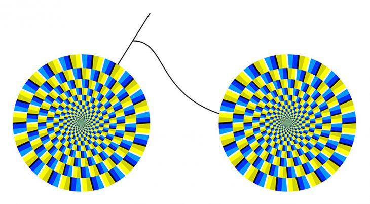 ilusión óptica de girar
