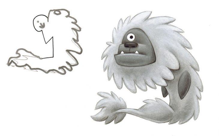 ilustró los monstruos hechos por los niños