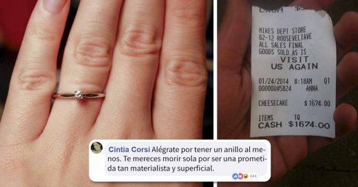 "Cover Mujer quiso humillar a su prometido por su anillo de compromiso ""barato"""