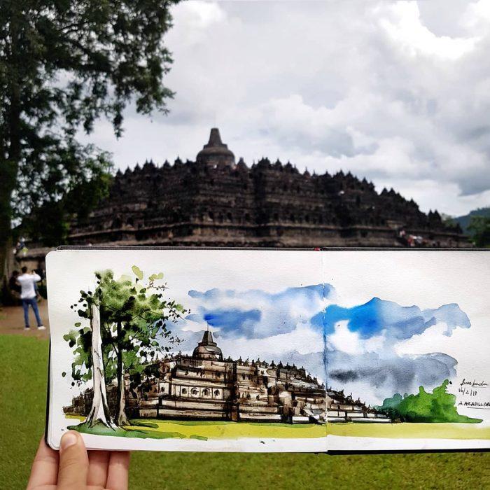 Templo Orobudur, Indonesia