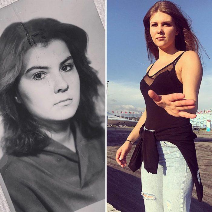 dos chicas familiares parecidas