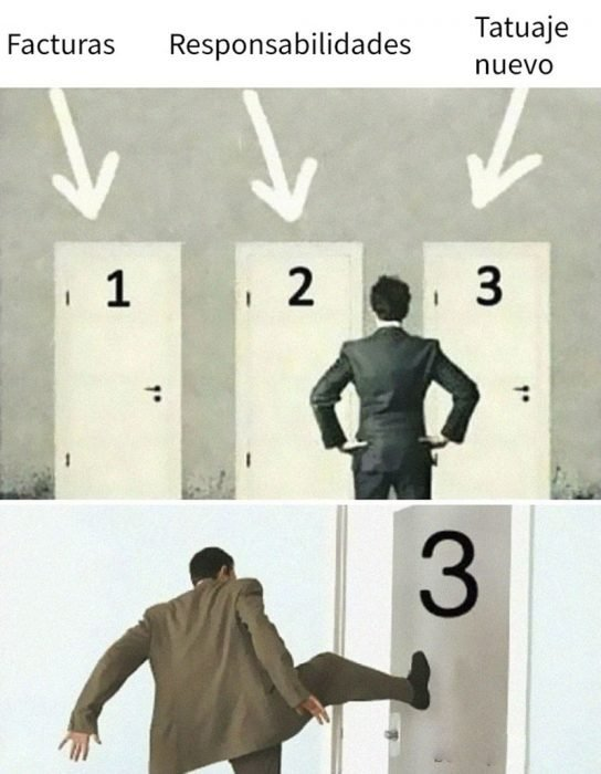 meme de las puertas
