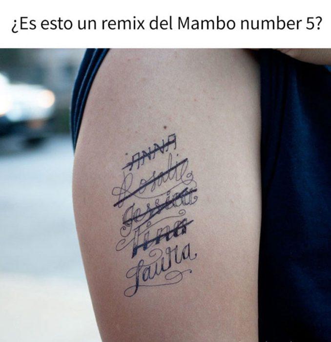 tatuaje de exes