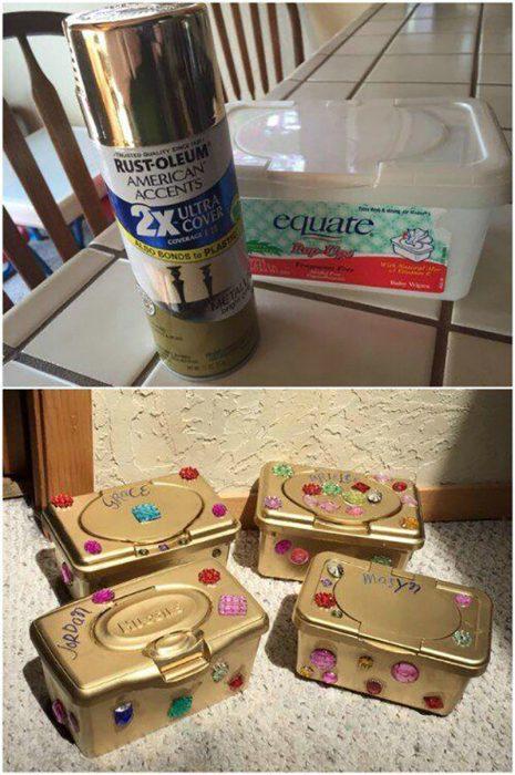 joyeros de cajitas recicladas