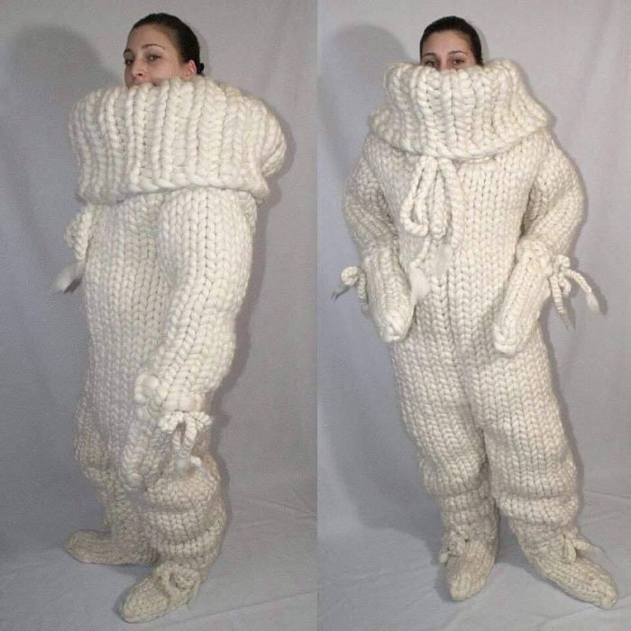 suéter de cuerpo completo