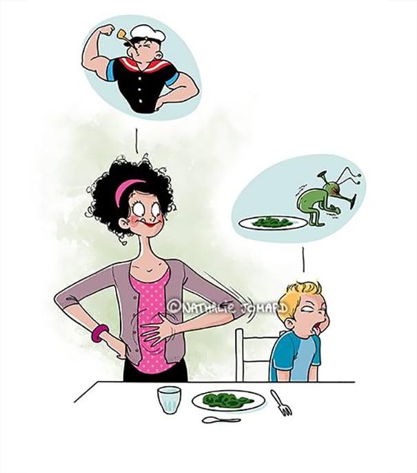 ilustraciones maternidad