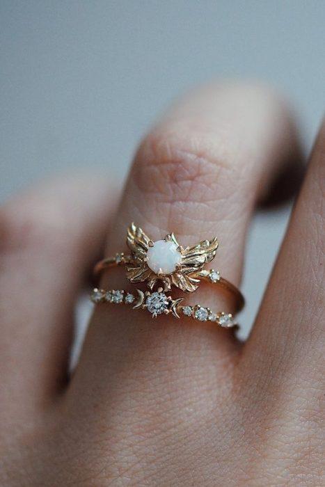anillos atorados