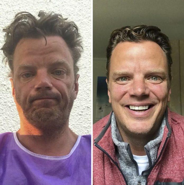 hombre desaliñado vs feliz