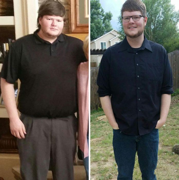 muchacho antes y después de dejar el alcohol