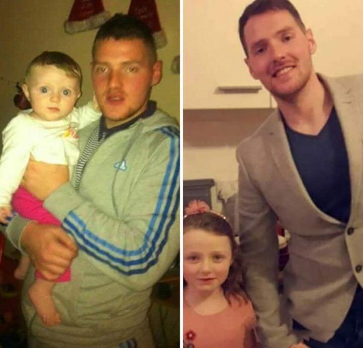 padre e hija antes y después
