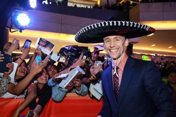 Tom Hiddleston en su visita a México