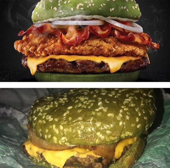 hamburguesa verde