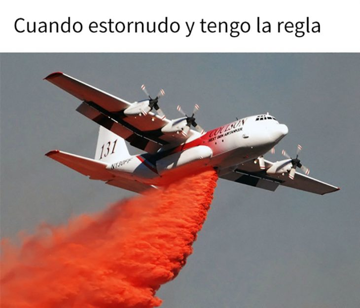 meme avión regla