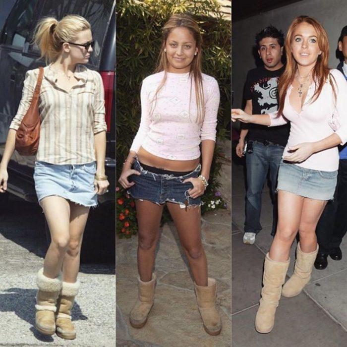 minifalda y botas