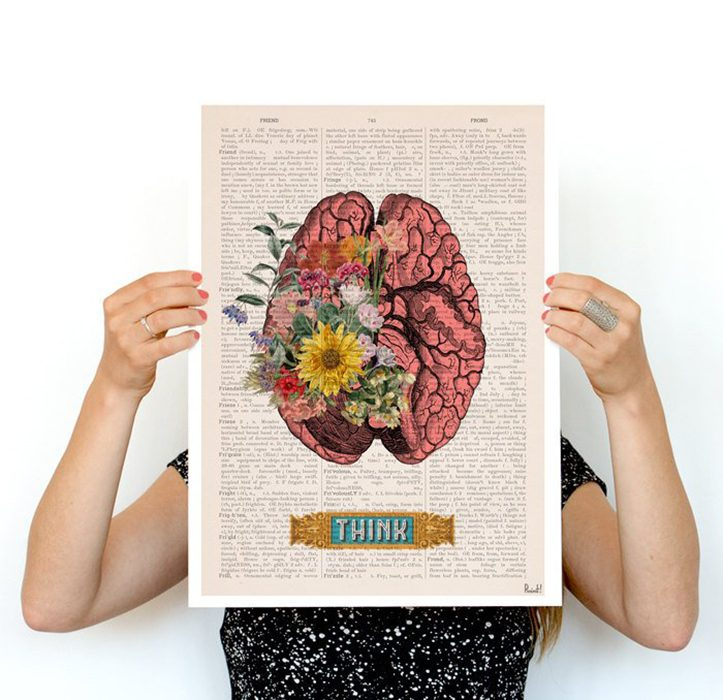 impresión del cerebro