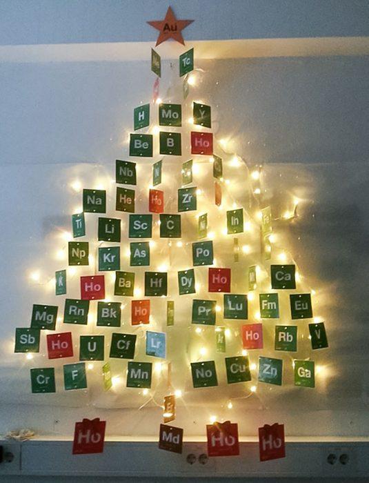árbol de navidad de los elementos