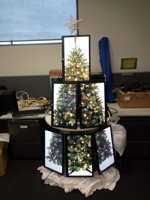 árbol de navidad de pantallas
