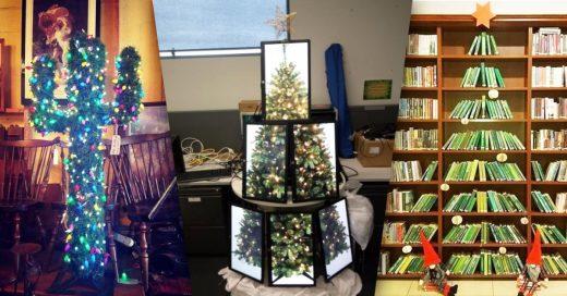 Cover Personas que ganarían un premio a la creatividad con sus árboles de Navidad