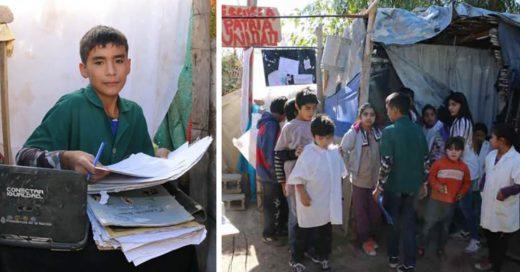Cover *Niño funda una escuela en el patio de su casa y alimenta a los necesitados