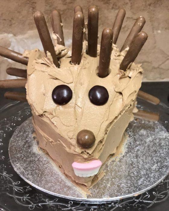 pastel de puercoespín