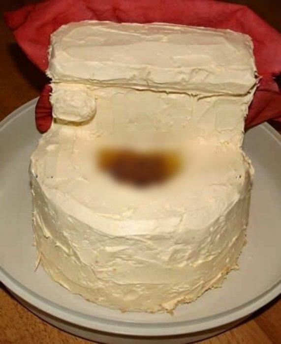 pastel de taza de baño
