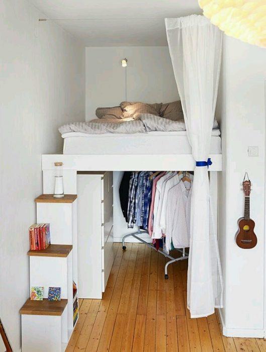 guardarropa bajo la cama