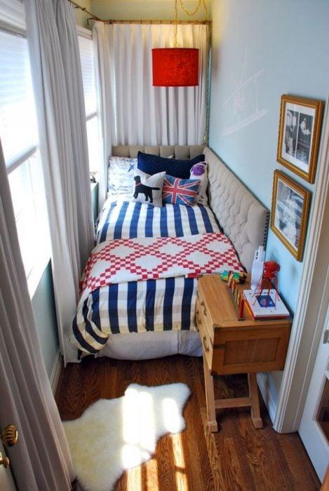 cama espacio pequeño