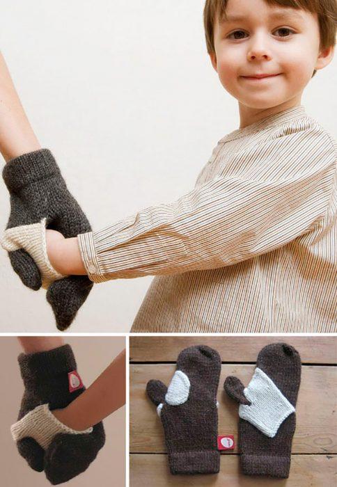 guantes para madre e hijo