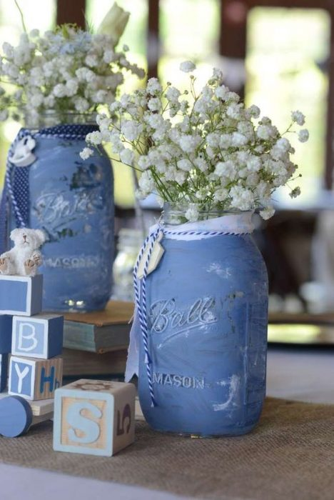 mason jars azules