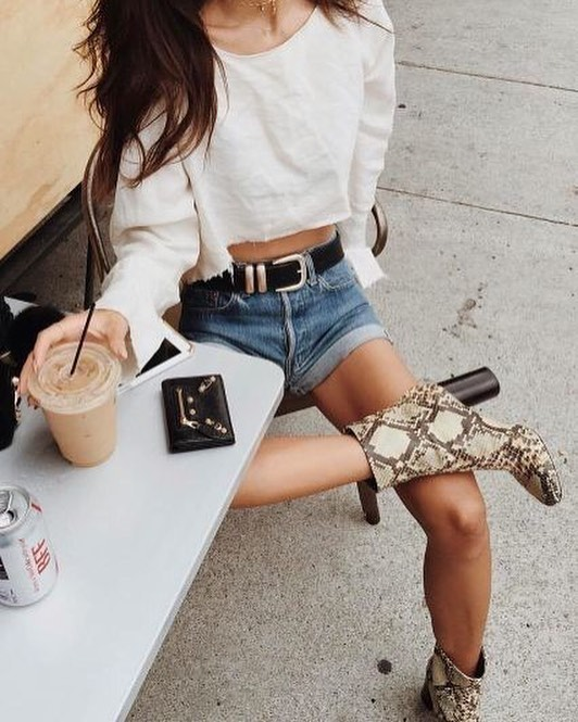 Outfits con estampado de serpiente pinterest instagram