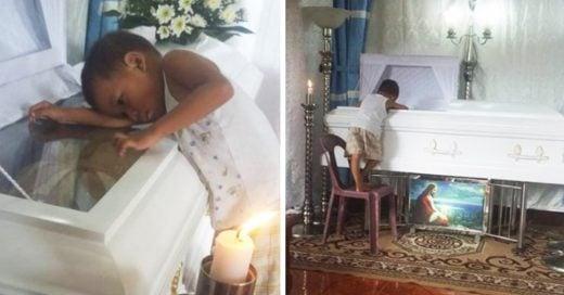 Cover Niño de 5 años se aferra al ataúd de su madre