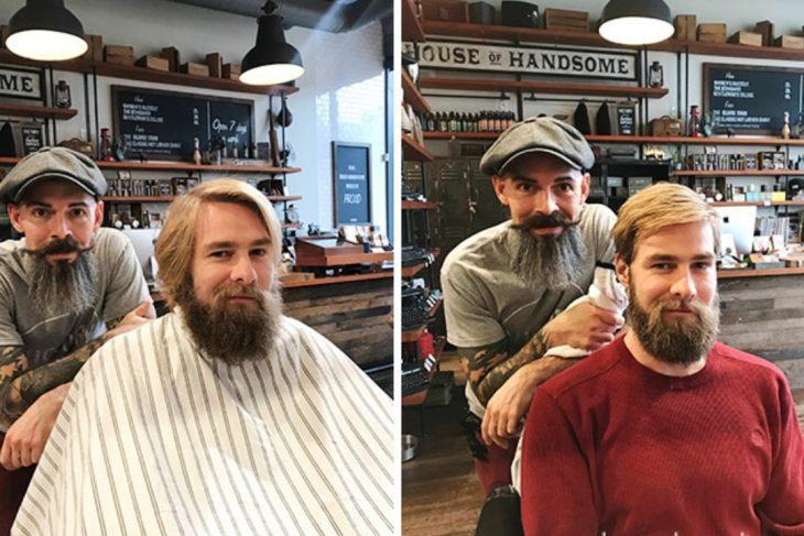 barbero con estilo