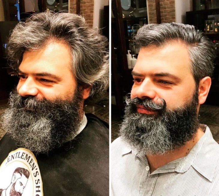 hombre con bigote y barba