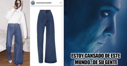 Cover jeans asimétricos.