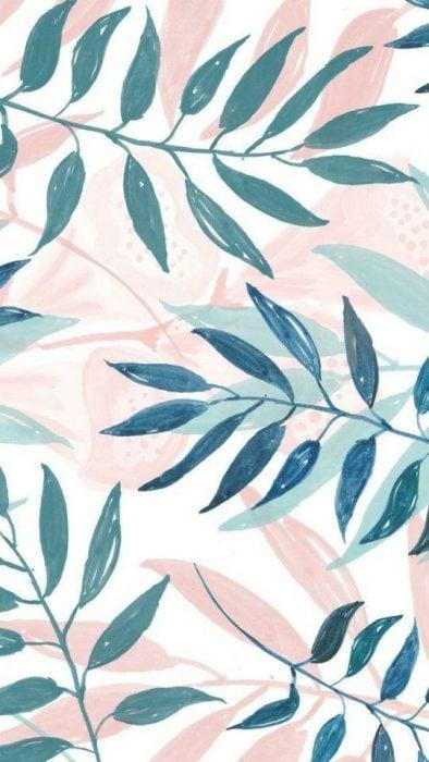 Hojas de plantas tropicales, dibujo