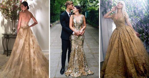 Cover Vestidos de novia dorados que serán tu perdición este 2019