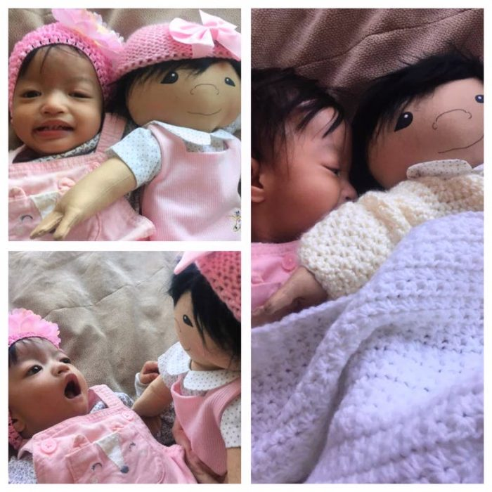 bebé y muñeca de bebé