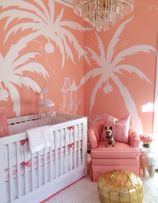 habitación coral
