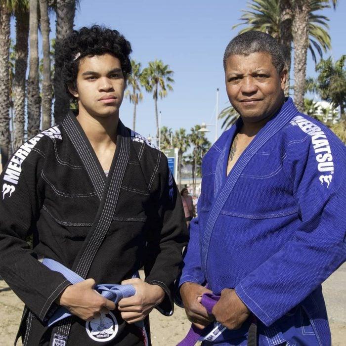 padre e hijo artes marciales