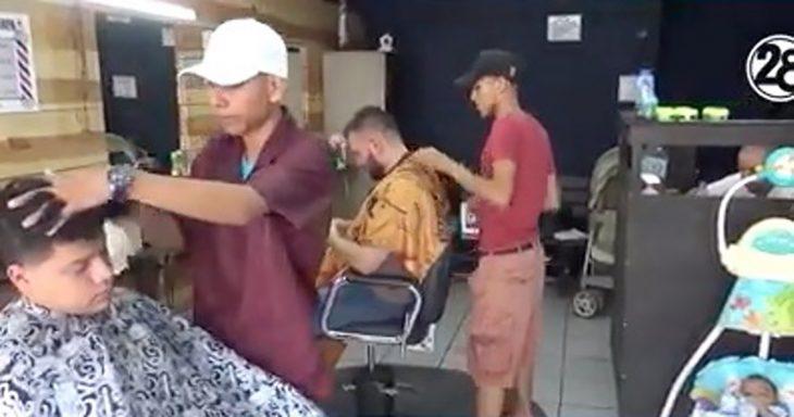 muchacho barbero