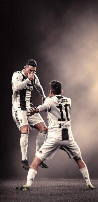 Cristiano Ronaldo festejando un gol