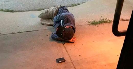 COVER Encuentran a hombre dormido afuera de un refugio, solo quiero recuperar a mi perrita
