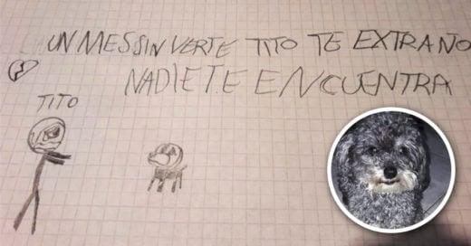 COVER Niño con autismo ofrece su bicicleta para que le devuelvan a Tito, su perro