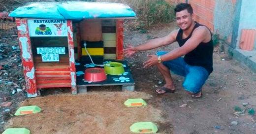 COVER Un joven crea un restaurante para perritos callejeros abre las 24 horas del día