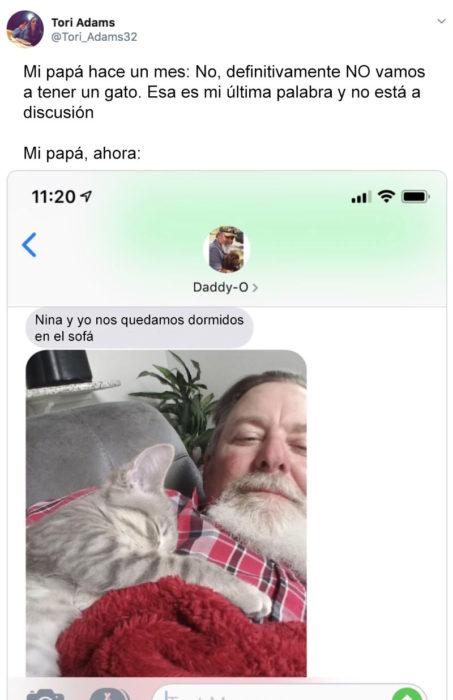 Papás que aman a los gatos