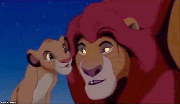 el rey león simba y mufasa