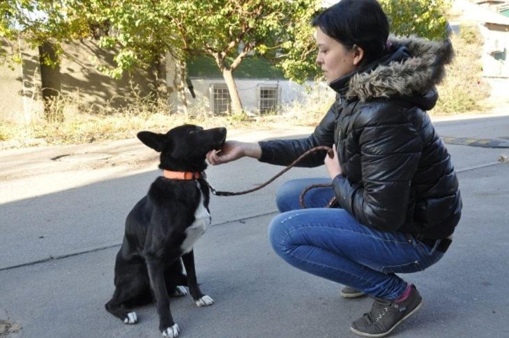 muchacha y su mascota