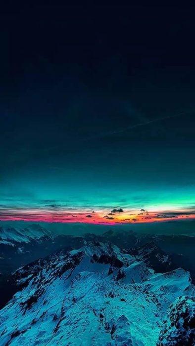 Aurora boreal fondo de pantalla