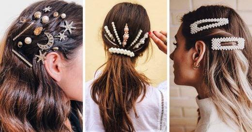 19 Glamurosas maneras de usar hair clips y verte fabulosa